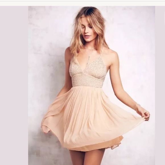 54ccc371eb788 Free People Dresses | Like A Diamond Dress Peach Sz 10 | Poshmark